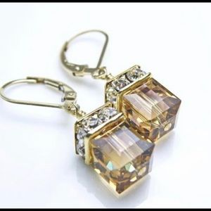"Swarovski Crystal ""chocolate diamond"" Earrings"